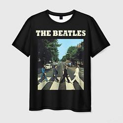 Футболка мужская The Beatles: Abbey Road цвета 3D — фото 1