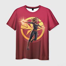 Футболка мужская Captain Marvel цвета 3D — фото 1