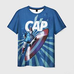 Футболка мужская Captain America цвета 3D — фото 1