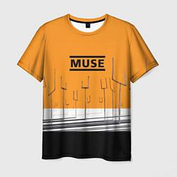 Футболка мужская Muse: Orange Mood цвета 3D — фото 1