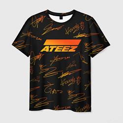 Мужская 3D-футболка с принтом ATEEZ АВТОГРАФЫ, цвет: 3D, артикул: 10200304903301 — фото 1