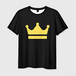 Мужская 3D-футболка с принтом Корона золотая, цвет: 3D, артикул: 10201209503301 — фото 1