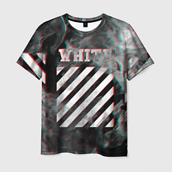 Футболка 3D мужская OFF-WHITE GLITCH FLAME - фото 1