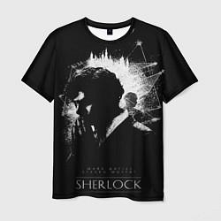 Футболка мужская Шерлок Холмс цвета 3D — фото 1