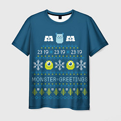 Футболка мужская Monster greetings цвета 3D-принт — фото 1
