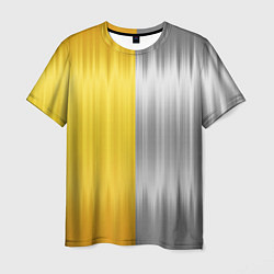 Футболка мужская Gold and Silver цвета 3D-принт — фото 1