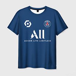 Футболка мужская Месси форма ПСЖ 20212022 цвета 3D-принт — фото 1