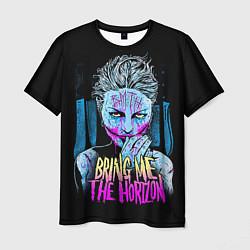 Мужская 3D-футболка с принтом BMTH: Acid Girl, цвет: 3D, артикул: 10073642603301 — фото 1
