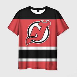 Футболка мужская New Jersey Devils цвета 3D-принт — фото 1