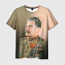 Футболка мужская Иосиф Сталин цвета 3D-принт — фото 1
