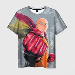 Мужская 3D-футболка с принтом One Punch Man Fist, цвет: 3D, артикул: 10084994303301 — фото 1