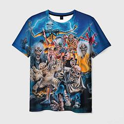 Футболка мужская Iron Maiden: Skeletons цвета 3D — фото 1