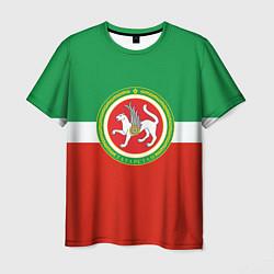 Футболка мужская Татарстан: флаг цвета 3D-принт — фото 1
