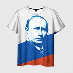 Футболка мужская Президент Путин цвета 3D-принт — фото 1