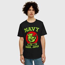 Футболка оверсайз мужская Navy: Po-1967 цвета черный — фото 2