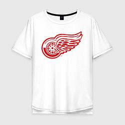 Футболка оверсайз мужская Detroit Red Wings цвета белый — фото 1