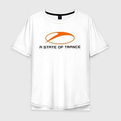 Футболка оверсайз мужская A State of Trance цвета белый — фото 1
