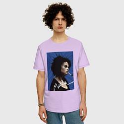 Футболка оверсайз мужская Marla Singer цвета лаванда — фото 2