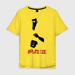 Футболка оверсайз мужская Bruce Lee цвета желтый — фото 1