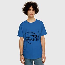 Мужская удлиненная футболка с принтом Skillet awake, цвет: синий, артикул: 10013056005753 — фото 2