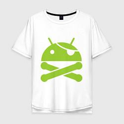 Футболка длинная мужская Android super user - фото 1
