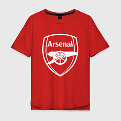 Футболка оверсайз мужская FC Arsenal цвета красный — фото 1