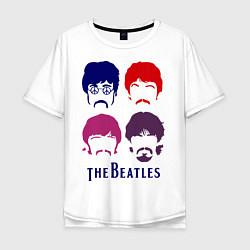 Мужская футболка оверсайз The Beatles faces