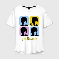 Мужская футболка оверсайз The Beatles: pop-art