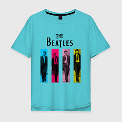 Мужская футболка оверсайз Walking Beatles