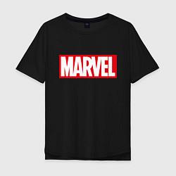 Мужская удлиненная футболка с принтом MARVEL, цвет: черный, артикул: 10170665905753 — фото 1