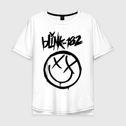 Футболка оверсайз мужская BLINK-182 цвета белый — фото 1