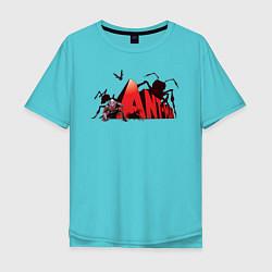 Футболка оверсайз мужская Ant-man цвета бирюзовый — фото 1
