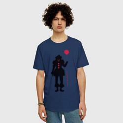 Футболка оверсайз мужская Pennywise цвета тёмно-синий — фото 2
