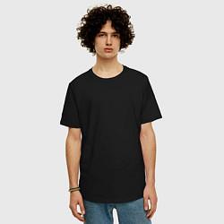 Футболка оверсайз мужская Без дизайна цвета черный — фото 2