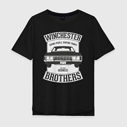 Футболка оверсайз мужская Impala Winchesters цвета черный — фото 1