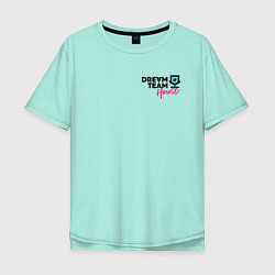 Мужская удлиненная футболка с принтом Dream Team logo, цвет: мятный, артикул: 10278392305753 — фото 1
