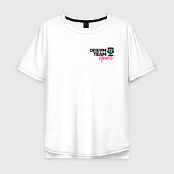 Футболка оверсайз мужская Dream Team logo цвета белый — фото 1