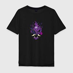 Футболка оверсайз мужская Samurai - purple цвета черный — фото 1