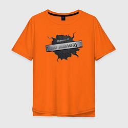 Футболка оверсайз мужская Главный по железу цвета оранжевый — фото 1