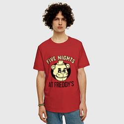 Футболка длинная мужская Five Nights At Freddy's - фото 2