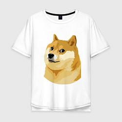 Мужская футболка оверсайз Doge