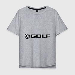 Футболка оверсайз мужская Volkswagen Golf цвета меланж — фото 1
