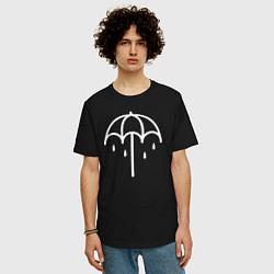 Мужская удлиненная футболка с принтом BMTH Symbol, цвет: черный, артикул: 10069475605753 — фото 2