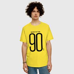 Футболка оверсайз мужская Made in 90 цвета желтый — фото 2