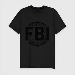Футболка slim-fit FBI Agency цвета черный — фото 1
