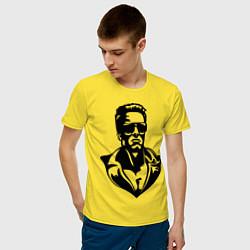 Футболка хлопковая мужская Железный Арни цвета желтый — фото 2