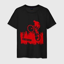 Футболка хлопковая мужская Велосипед цвета черный — фото 1