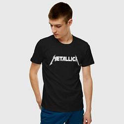 Футболка хлопковая мужская Metallica цвета черный — фото 2
