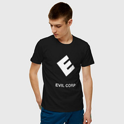 Футболка хлопковая мужская Evil corporation цвета черный — фото 2