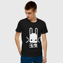 Футболка хлопковая мужская Destiny Rabbit цвета черный — фото 2
